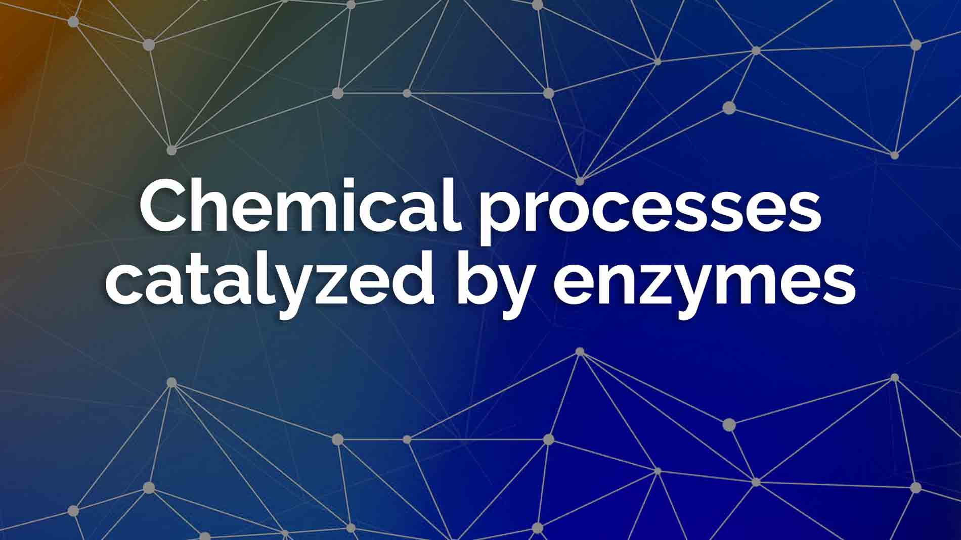 Chemical processes catalyzed enzymes 1
