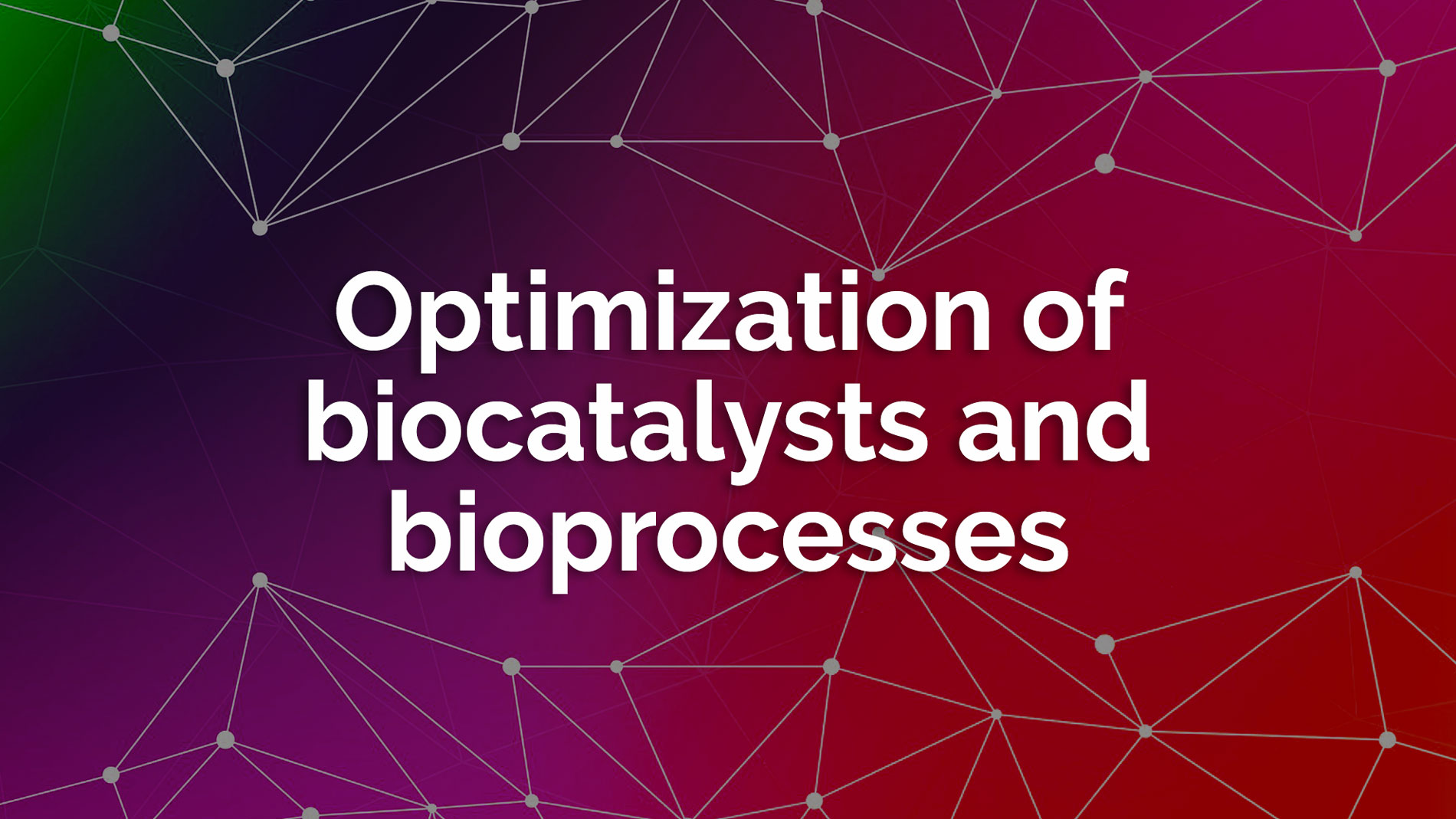 Optimization biocatalysts bioprocesses